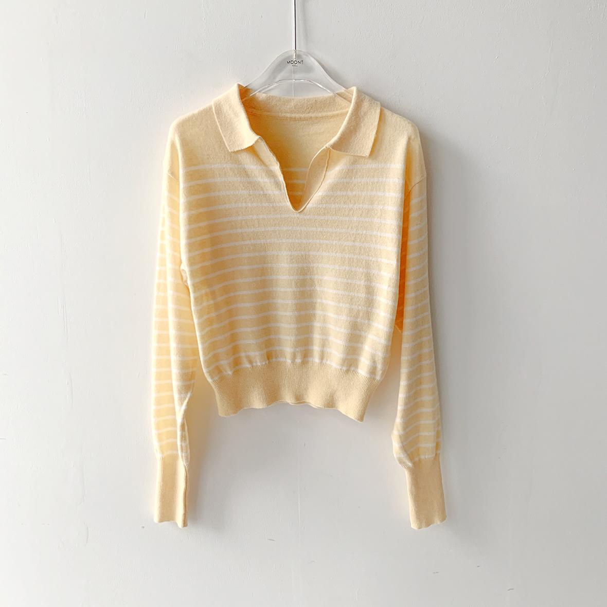 긴팔 티셔츠 머스타드 색상 이미지-S1L33