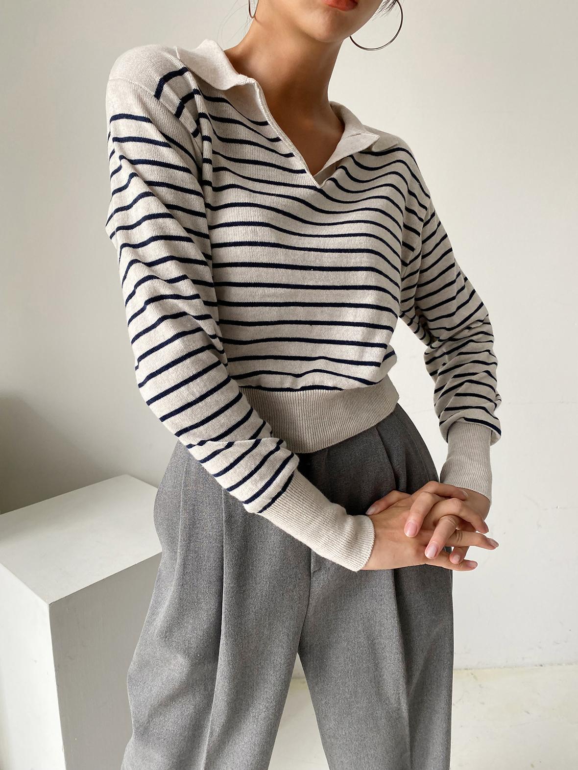 긴팔 티셔츠 모델 착용 이미지-S1L12
